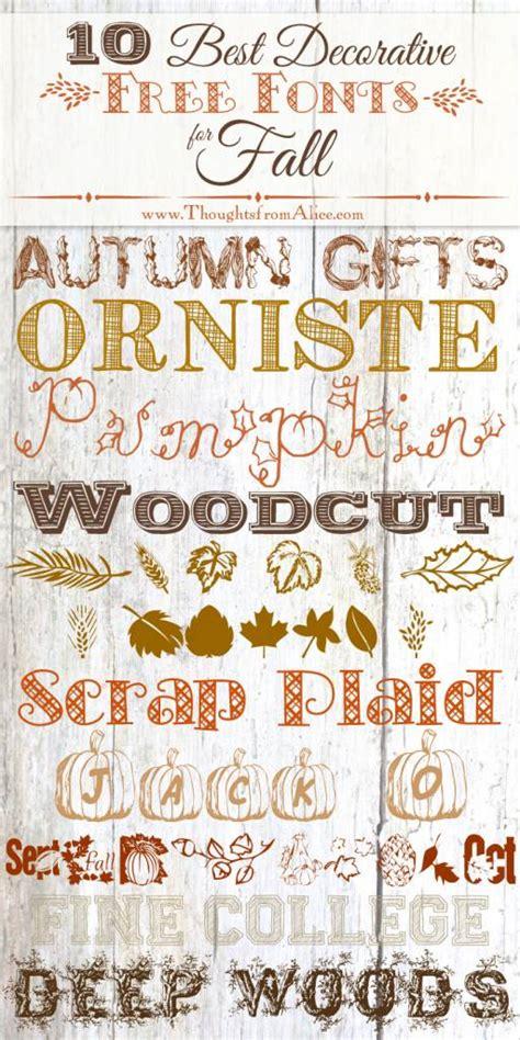 decorative fonts  fall scrap booking