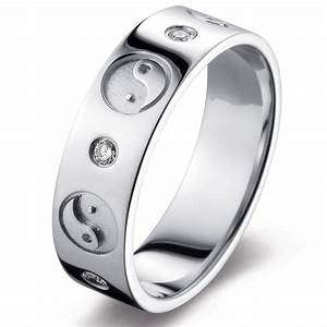 yin yang in 14k white gold wedding rings With yin yang wedding rings