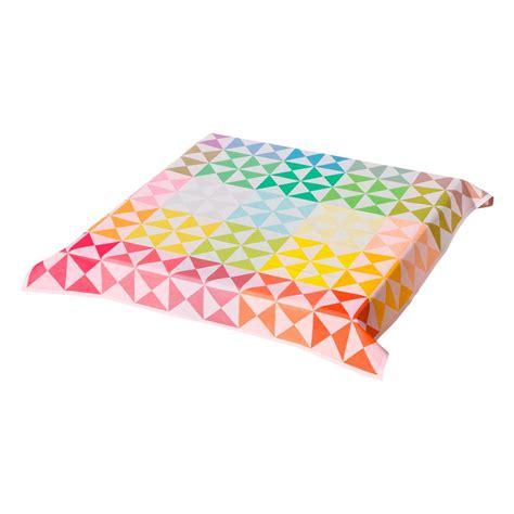 le jacquard francais nappe nappe r 233 versible origami multico 100 coton nappes la table le jacquard fran 231 ais