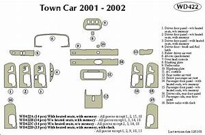 Lincoln Town Car 2001 2002 Dash Trim Kit A