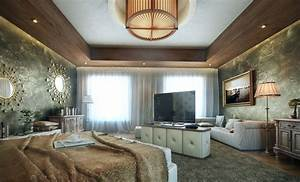 Bedroom feature walls for Luxurious master bedroom decorating ideas 2012