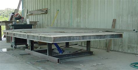tilting table hydraulic marble granite counter top work