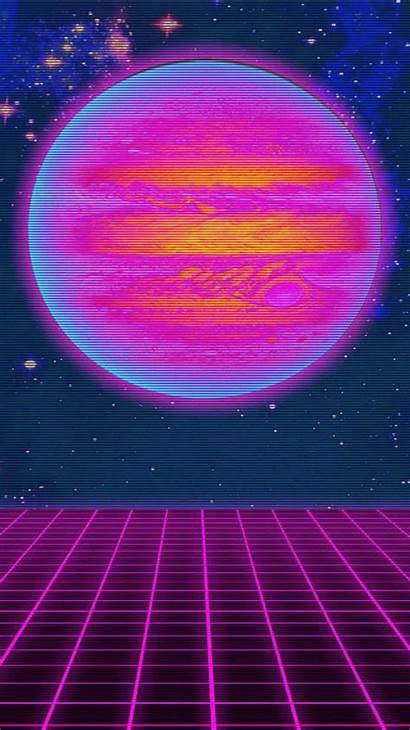 Vaporwave Space Aesthetic