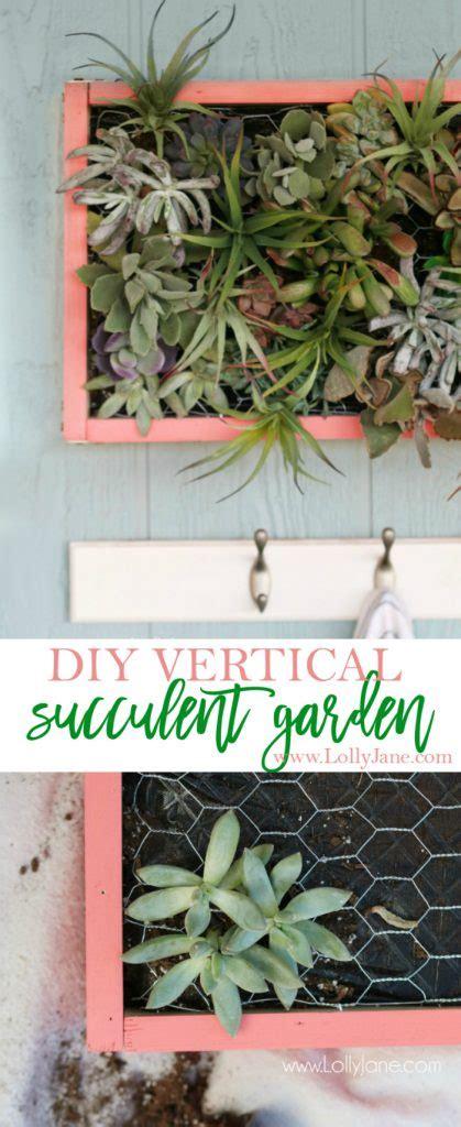 Vertical Succulent Garden Diy by Diy Vertical Succulent Garden Lolly