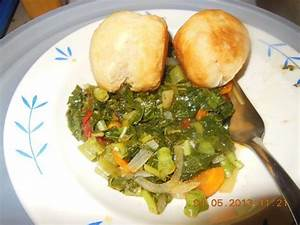 Jamaican Food - Steamed Callaloo - Easy Jamaican Recipe ...