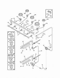 Burner Diagram  U0026 Parts List For Model 79075403501 Kenmore