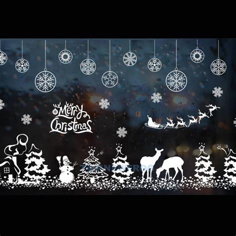 Weihnachtsdeko Fenstersticker by Fenstersticker Fensterfolie Fensterbild Weihnachten