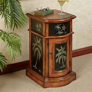 kellsie palm tree storage accent cabinet With kitchen cabinets lowes with palm tree metal wall art