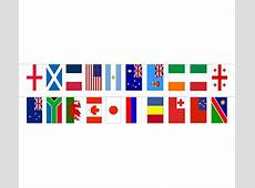 World Cloth Flag Bunting 20 Flags 15m