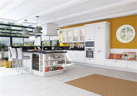 cuisine blanche stunning cuisine blanche mur gris fonce pictures design