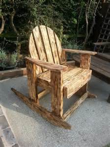 Sanding A Rocking Chair diy scorched pallet wood rocking chair 99 pallets