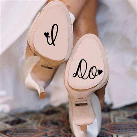 12pcslot I Do Wedding Shoes Decal Vinyl Novelty Stickers
