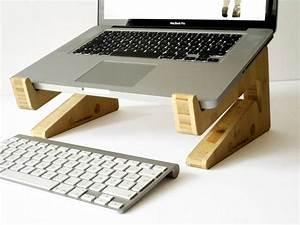Support En Bambou Pour Ordinateur Portable