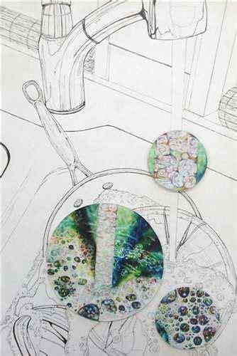 Washing Dishes Drawing