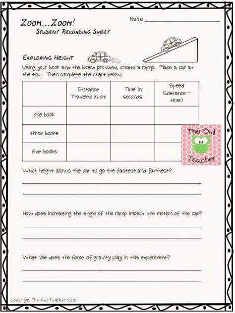 math in science physical science work and power worksheet