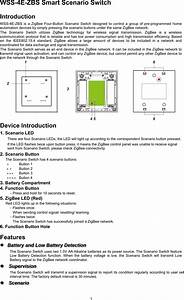 Climax Technology Co Wsszb Smart Scenario Switch User