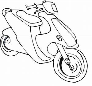 Printable Coloring Scooter Coloring Pages