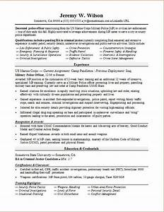 police officer military to civilian resume sample With civilian resume