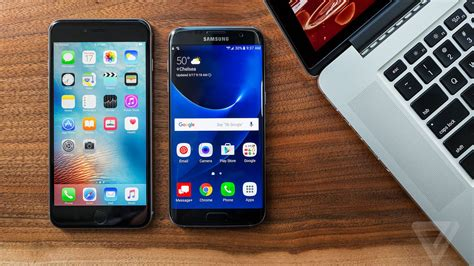 smartphone shootout galaxy s7 edge takes the iphone 6s plus the verge