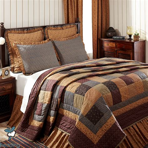 country quilt bedding sets primitive antique floral patchwork rustic country home