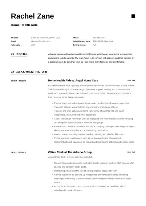 Hha Resume by Home Health Aide Resume Sle Writing Guide 12