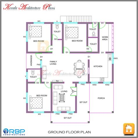 house plan architects kerala style single storied house plan and its elevation architecture kerala