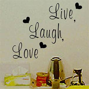 fashion eglish provebs live laugh love letters wallsticker With live laugh love letters wall