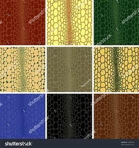 Seamless Pattern Crocodile Leather Skin Background Stock ...