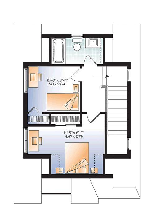 Tudor Style House Plan 76458 with 3 Bed 2 Bath House