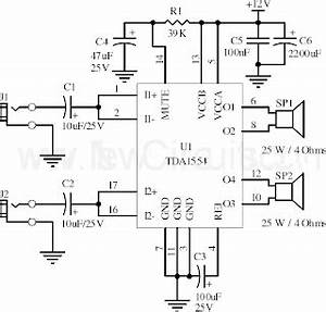 help me develop a car music system With 22w mono amplifier circuit diagram