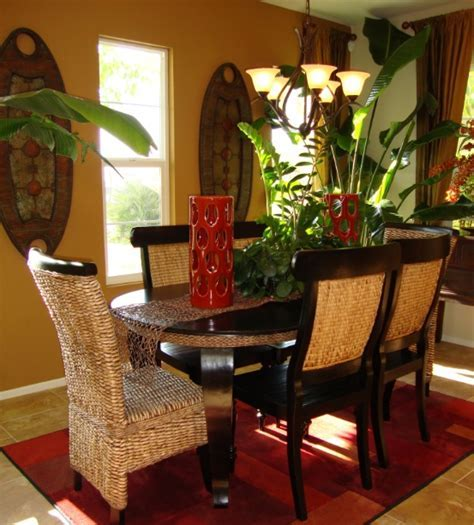 Small formal dining room ideas with stone wall decor