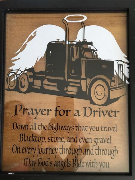 truck drivers prayer   great gift   driver