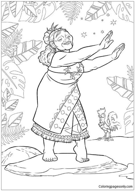 tala  moana disney  coloring page  coloring pages