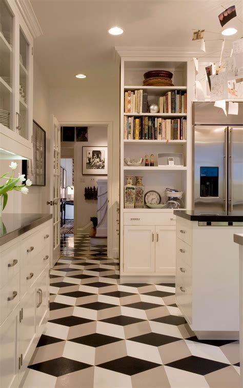 cool vinyl flooring Kitchen Contemporary with farmhouse