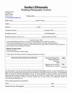 Photography contract template beepmunk for Standard wedding photography contract