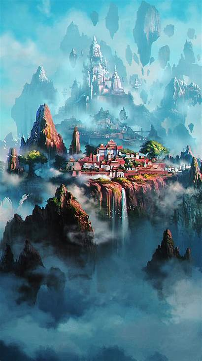 Anime Fantasy Town Iphone Phone Xing Liang