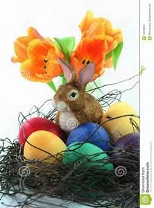 Korb Mit Stern : ostern korb mit eiern und osterhase und tulpe stockfoto bild von tulpen gr n 13073958 ~ Eleganceandgraceweddings.com Haus und Dekorationen