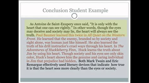 critical lens essay  writing  conclusion youtube