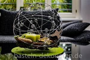 Basteln Mit Draht : silberne drahtkugel als weihnachtsdekoration basteln und ~ Lizthompson.info Haus und Dekorationen