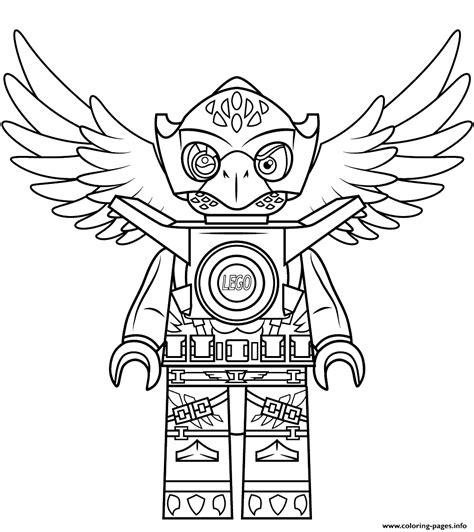 Lego Kleurplaat Printen by Lego Chima Eagle Eris Coloring Pages Printable