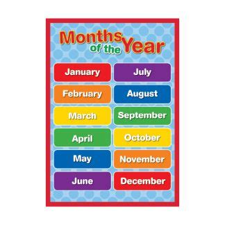 Months of the Year Chart - Sona Edons