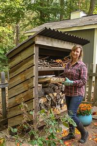 how to build a wood storage shed pretty handy