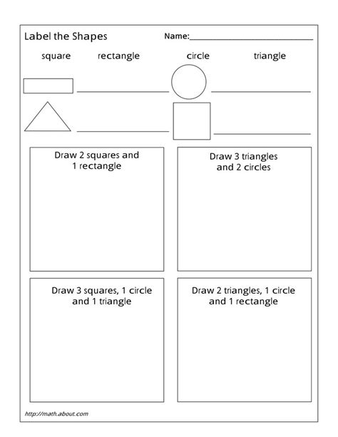 geometry worksheets  students  st grade
