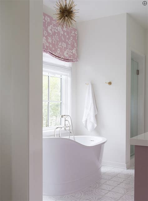 white  pink bathroom  white mosaic floor tiles
