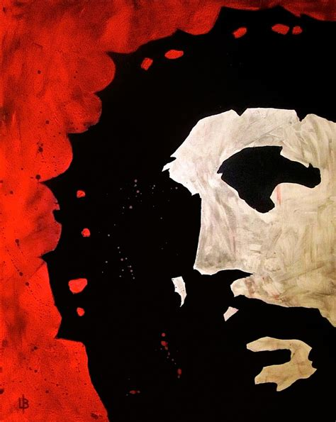 Abstract Black And White Jesus Painting by Pictures Of Jesus Painted