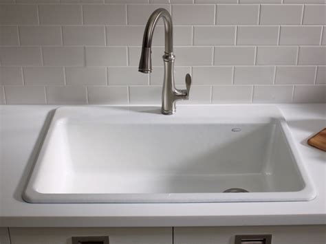 top mount sinks kitchen k 5871 リバーバイ l オーバーカウンターキッチン1槽シンク sinks in the kitchen 6300