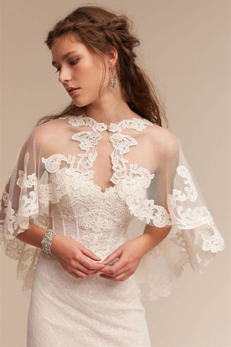 Lace Coverup Adorlee Cape From Bhldn The Romantic