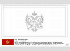 Ausmalbild Fahne von Montenegro Ausmalbilder kostenlos