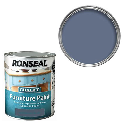 ronseal chalky furniture paint midnight blue