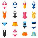 Swimwear Vector Flat Suits Icons Swimming Icon